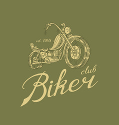 motorcycle bike for t-shirt vintage transport vector image