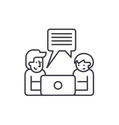 online seminar line icon concept online seminar vector image