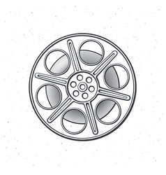 outline film stock front view vector image