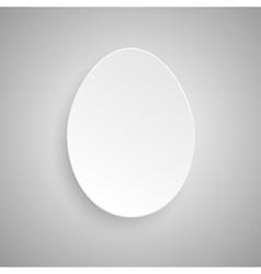 Paper Banner Design Mockup Egg vector