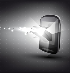 Phone in 3D with light effect vector