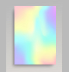 Plain iridescent gradient backdrop vector