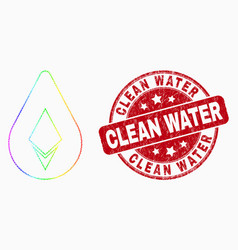 rainbow colored pixel crystal drop icon and vector image
