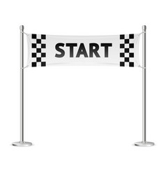 realistic 3d detailed racing start line vector image