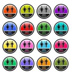 Restroom symbols vector image