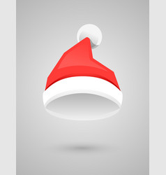 santa claus red hat in flat style vector image