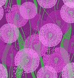 Seamless pattern of dandelions vector