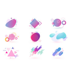set of abstract graphic design elements vector image