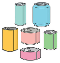 set of can vector image