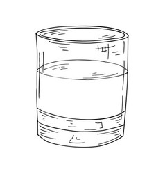 sketch cocktail hand drawn drink on white vector image