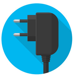 smart phone charger plug icon vector image