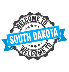 south dakota round ribbon seal vector image vector image