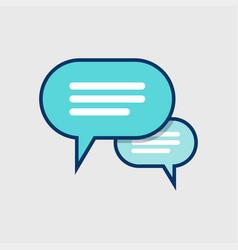 speech bubbles icon vector image