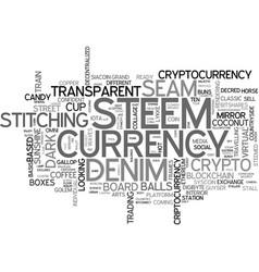 steem word cloud concept vector image