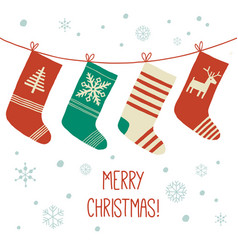 stockings christmas background assortment of four vector image