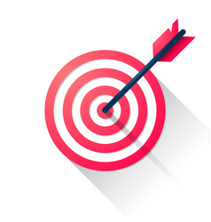 target with an arrow flat icon concept vector image