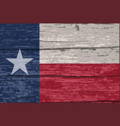 texas state flag on old timber vector image
