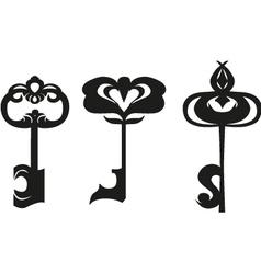 Three black keys vector