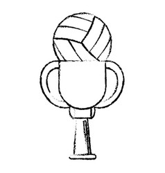 volleyball award cup sport win vector image
