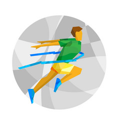 Winning runner with abstract patterns vector