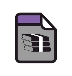 Winrar format type archive vector