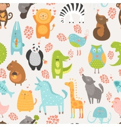 Animal background vector image vector image