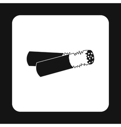Cigarette butt icon simple style vector image vector image