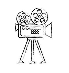 Figure movie camera to projection scene vector