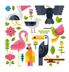 Flat Bird vector image