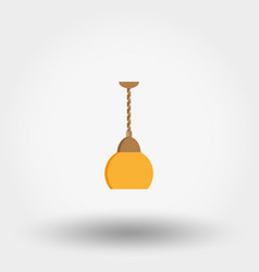 lamp for kitchen icon flat vector image