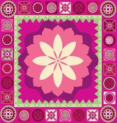 ornamental floral spring poster vector image vector image