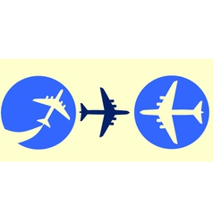 set of airplane buttons vector image
