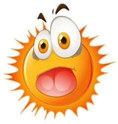 Sun with shocking face vector image