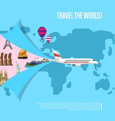 travel the world concept for airline vector image vector image