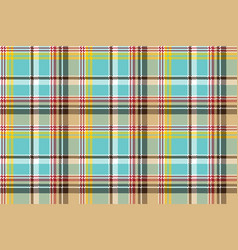 blue madras pixel texture color fabric seamless vector image vector image
