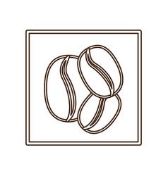 coffee grains icon image vector image