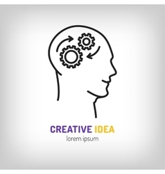 Logo marketing business Brainstorm Brainwave vector image vector image