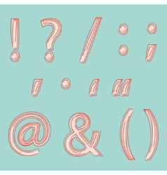 Punctuation vector image vector image