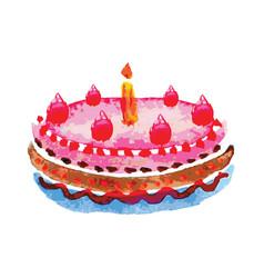 cake on white background vector image
