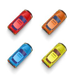 car color set transport sign drive vector image