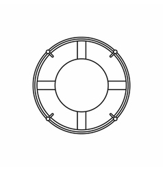 Lifeline icon outline style vector image