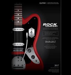 rock concert poster background template vector image