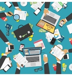 Workplace of business people vector image vector image