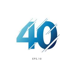 40 year anniversary template design vector