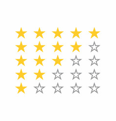 5-star rating system vector image