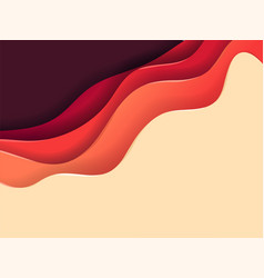 Abstract background color layers vector
