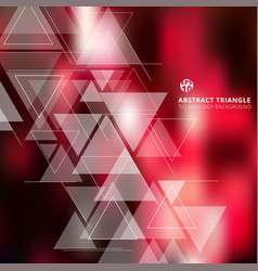 Abstract blurred red background with triangles vector