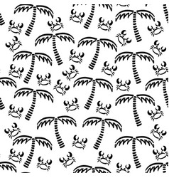 Abstract monochrome seamless summer pattern vector