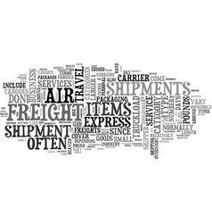 Air freight text word cloud concept vector