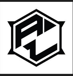 Al logo monogram design template vector